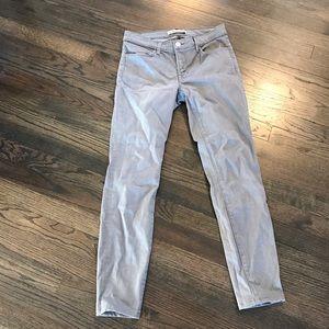 J Brand Super Skinny Gray Jeans 27 EUC Gotham